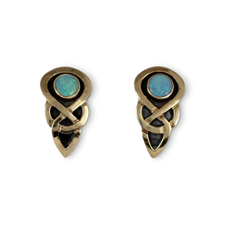 Ceres Earrings with Opal in