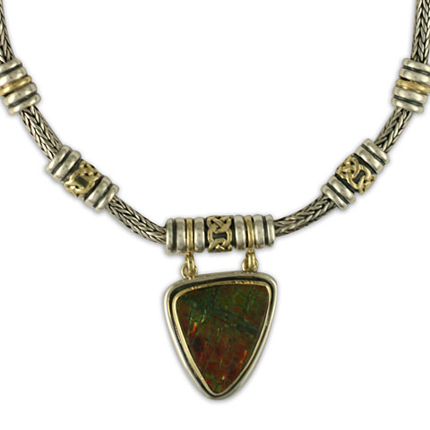 One-of-a-Kind Ammolite Sky Necklace in