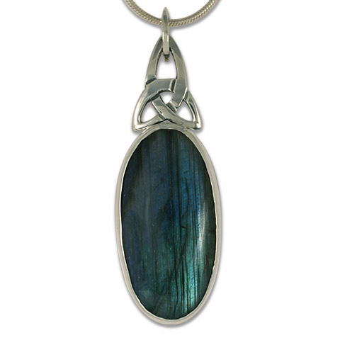 One-of-a-Kind Labradorite Trinity Pendant in