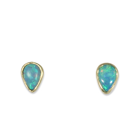 One-of-a-Kind Australian Opal Earrings in