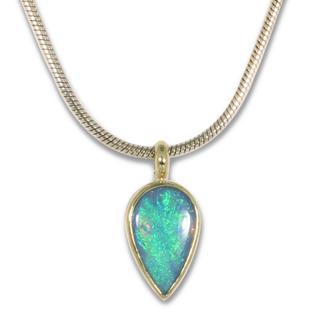 One-of-a-Kind Australian Opal Pendant in