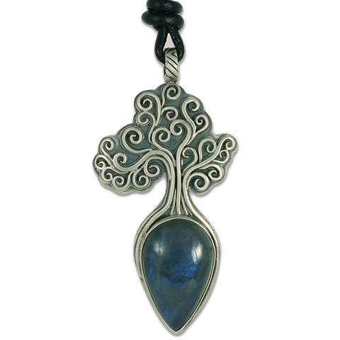 One-of-a-Kind Tree of Life Medium Pendant with Labradorite in