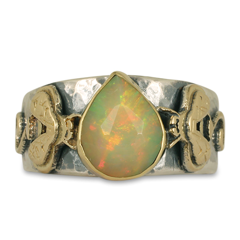 One-of-a-Kind Bee Ring with Ethiopian Opal in
