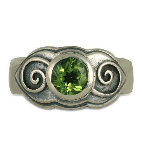 Skyler Swirl Ring in Peridot