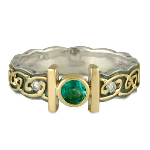 Open Petra Engagement Ring in Emerald