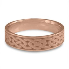 Narrow Celtic Link Wedding Ring in 14K Rose Gold