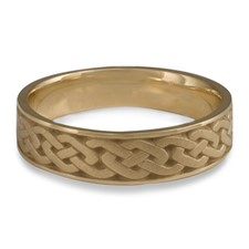 Narrow Celtic Link Wedding Ring in 14K Yellow Gold