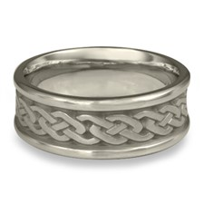 Narrow Self Bordered Celtic Link Wedding Ring in Palladium