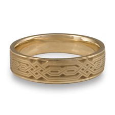 Narrow Persian Wedding Ring in 14K Yellow Gold