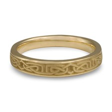 Extra Narrow Labyrinth Wedding Ring in 14K Yellow Gold