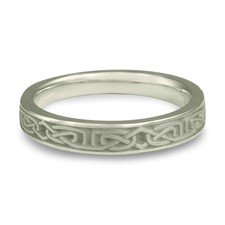 Extra Narrow Labyrinth Wedding Ring in Platinum