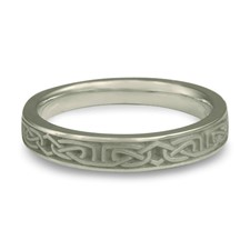 Extra Narrow Labyrinth Wedding Ring in Stainless Steel