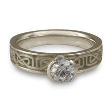 Extra Narrow Labyrinth Engagement Ring in Palladium