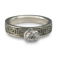 Extra Narrow Labyrinth Engagement Ring in Platinum