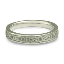 Labyrinth Wedding Ring in Platinum