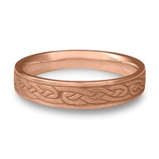Narrow Infinity Wedding Ring in 14K Rose Gold
