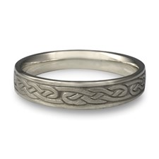 Narrow Infinity Wedding Ring in Stainless Steel