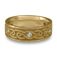 Medium Infinity Wedding Ring with Gems in 14K Yellow Gold