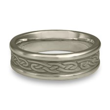 Narrow Self Bordered Infinity Wedding Ring in Stainless Steel
