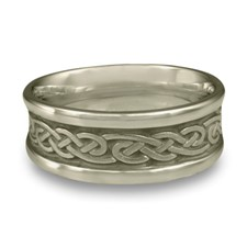 Medium Self Bordered Infinity Wedding Ring in Stainless Steel