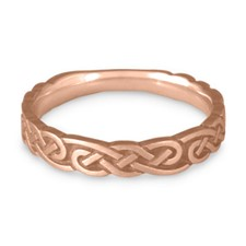 Narrow Borderless Infinity Wedding Ring in 14K Rose Gold