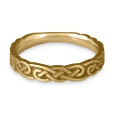 Narrow Borderless Infinity Wedding Ring in 14K Yellow Gold