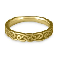 Narrow Borderless Infinity Wedding Ring in 18K Yellow Gold