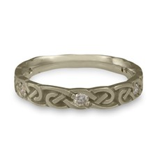 Narrow Borderless Infinity Wedding Ring with Gems  in 311 Diamond
