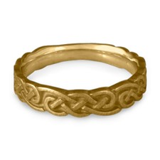 Medium Borderless Infinity Wedding Ring in 14K Yellow Gold