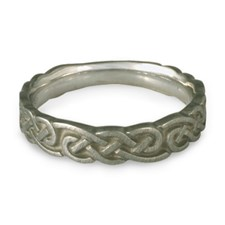 Medium Borderless Infinity Wedding Ring in Stainless Steel