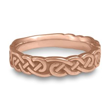 Wide Borderless Infinity Wedding Ring in 14K Rose Gold