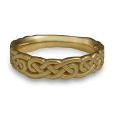Wide Borderless Infinity Wedding Ring in 14K Yellow Gold