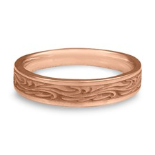 Extra Narrow Starry Night Wedding Ring in 14K Rose Gold