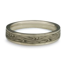 Extra Narrow Starry Night Wedding Ring in 14K White Gold