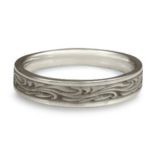 Extra Narrow Starry Night Wedding Ring in Platinum