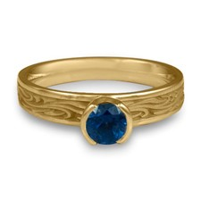 Extra Narrow Starry Night Engagement Ring in Sapphire