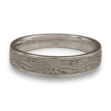 Narrow Starry Night Wedding Ring in Stainless Steel