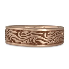 Wide Starry Night Wedding Ring in 14K Rose Gold