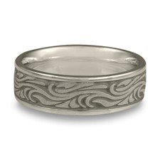 Wide Starry Night Wedding Ring in Stainless Steel