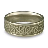 Wide Celtic Hearts Wedding Ring in Stainless Steel