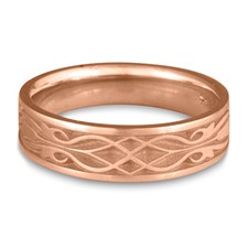 Narrow Tulip Braid Wedding Ring in 14K Rose Gold