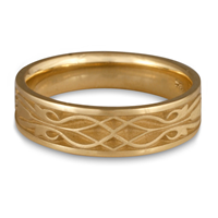 Narrow Tulip Braid Wedding Ring in 14K Yellow Gold