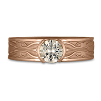 Narrow Tulip Braid Engagement Ring in 14K Rose Gold