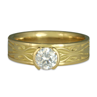Narrow Tulip Braid Engagement Ring in 18K Yellow Gold
