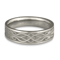 Narrow Tulip Braid Wedding Ring in Platinum