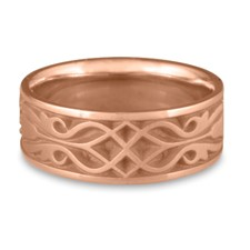 Wide Tulip Braid Wedding Ring in 14K Rose Gold