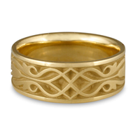 Wide Tulip Braid Wedding Ring in 14K Yellow Gold