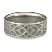 Wide Tulip Braid Wedding Ring in Stainless Steel
