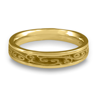 Extra Narrow Continuous Garden Gate Wedding Ring in 14K Yellow Gold