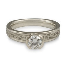 Extra Narrow Continuous Garden Gate Engagement Ring in Diamond